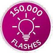 150,000 flash bulb