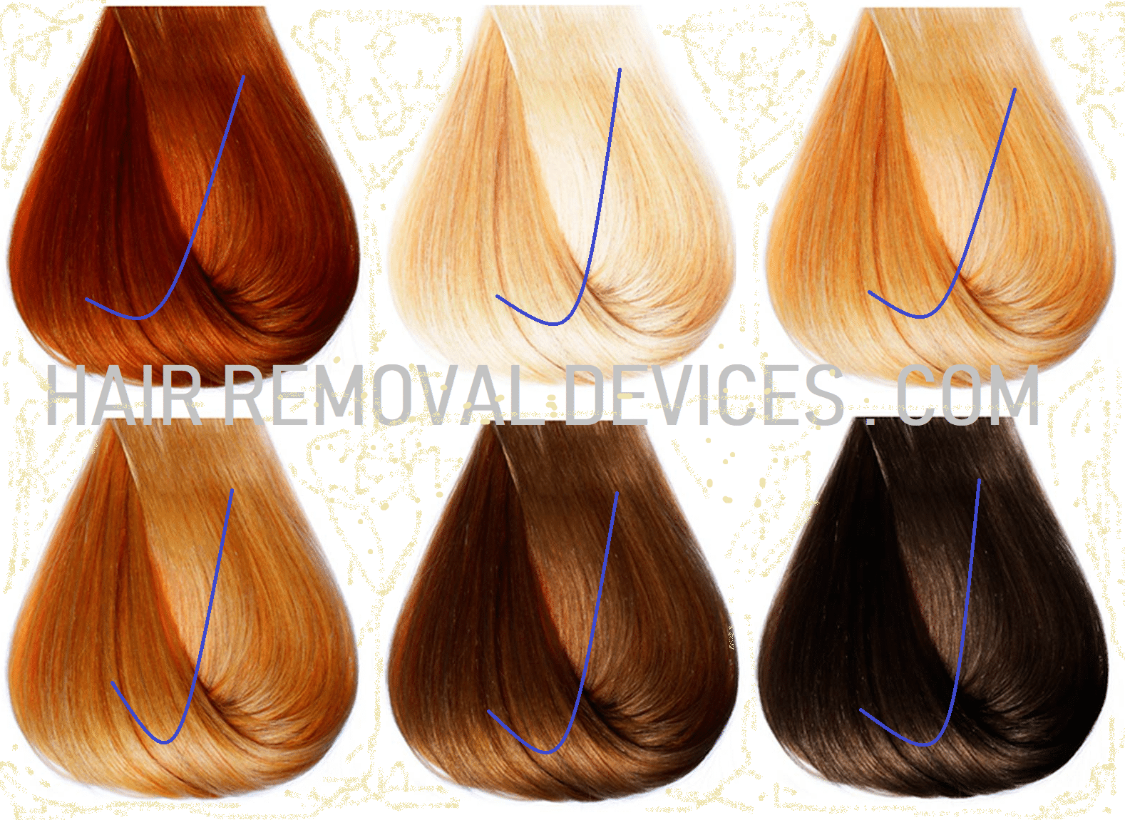 Hair colors suitable for treatment using Iluminage Touch