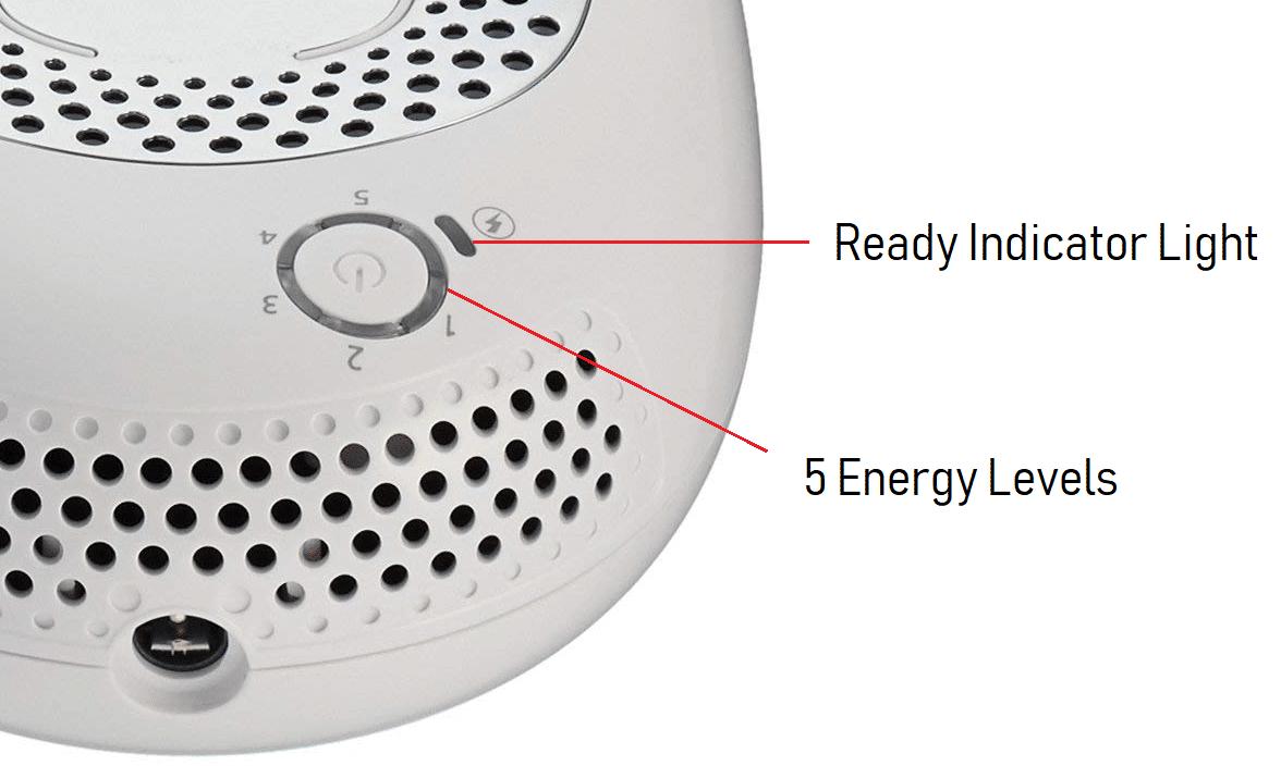 Silk'n Flash&Go Infinity Energy Button & Energy Levels
